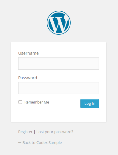 When you've finish installing WordPress on your Ipage account - Login form