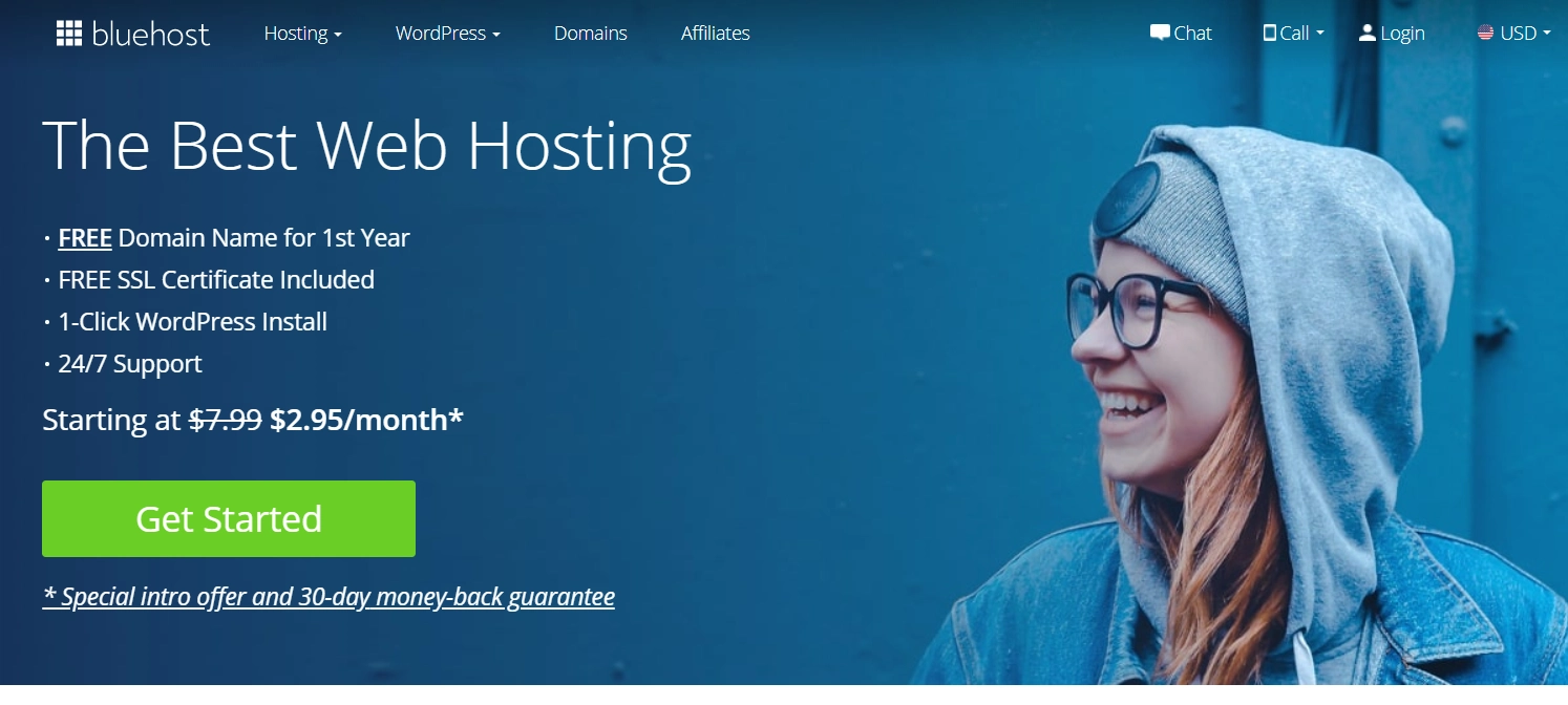 How to start a food blog: Choose Bluehost